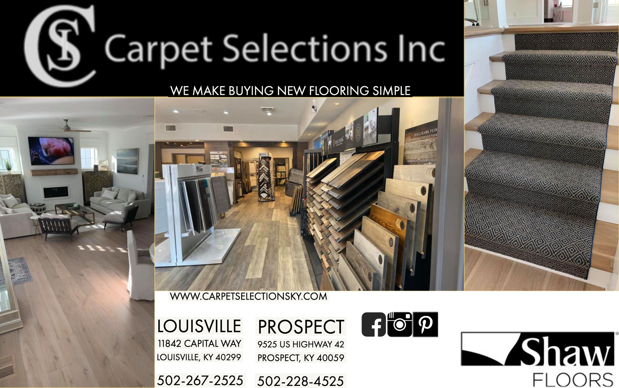 Welcome to Carpet Selections, Inc. in Prospect